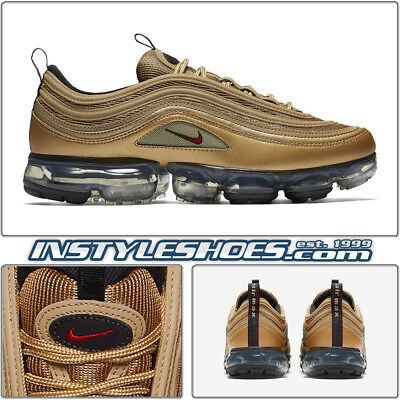 a6f767f81eafd Nike Air VaporMax 97 Metallic Gold Varsity Red Black White Max AJ7291-700