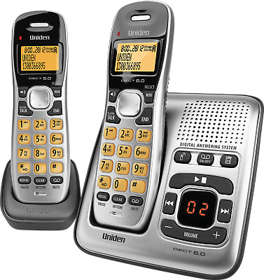 UNIDEN CORDLESS DIGITAL DECT 1735 + 1 (x 2 HANDSETS) + ANSWERING MACHINE - NEW