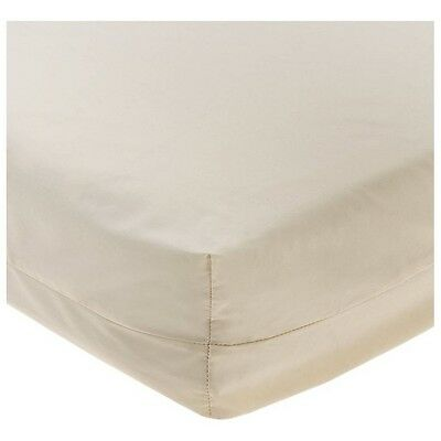 New-Set of 2-Royal Heritage Home-ORGANIC Crib Sheets-Cotton Fitted Bassinet Ecru