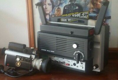 super 8 projector and camera