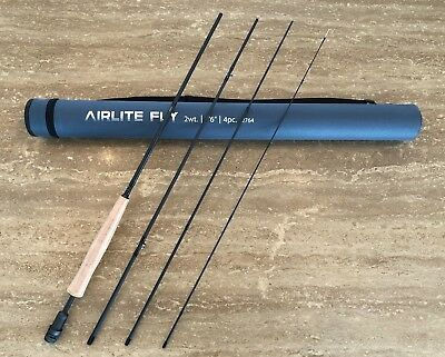 """FLY ROD DELTA AIRLITE V2 7'6"""" 2W 4P Lightweight Carbon Nano Fly Fishing Rod"""