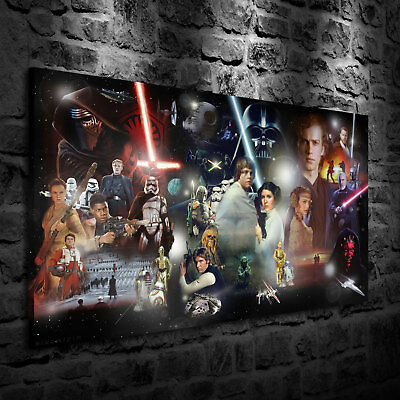 HD Print Oil Painting Home Decor on Canvas Star Wars Rey Multiple Size Options