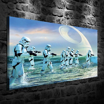 HD Print Oil Painting on Canvas Star Wars Stormtrooper Multiple Size Options