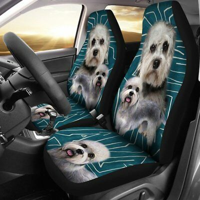 Dandie Dinmont Terrier Print Car Seat Covers-Free Shipping
