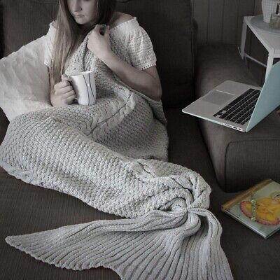 Luxe Mermaid Tail Blanket Premium Knitted – AU Stock. Same Day Dispatch