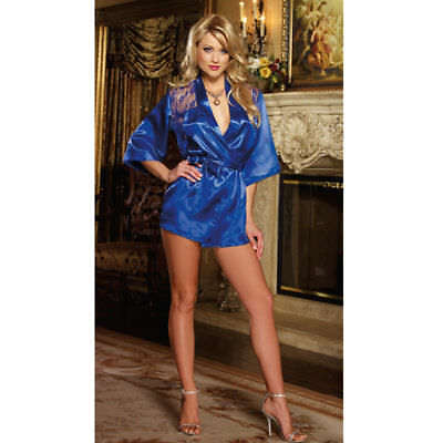 Sexy BLUE LACE Lingerie Sleepwear Women's G-string Dress Underwear Babydoll Robe