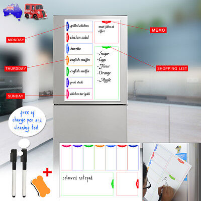 A3 Magnetic Whiteboard Weekly Day To Day Activities And Diet Plan Shopping List