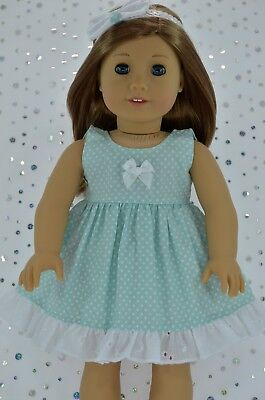 """Doll Clothes For 18""""American Girl~Our Generation~JourneyPOLKA DOT DRESS~HEADBAND"""