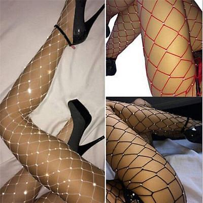 Diamante Sparkle Crytsal Fishnets Fence Net Pantyhose Stockings Tights Diamond