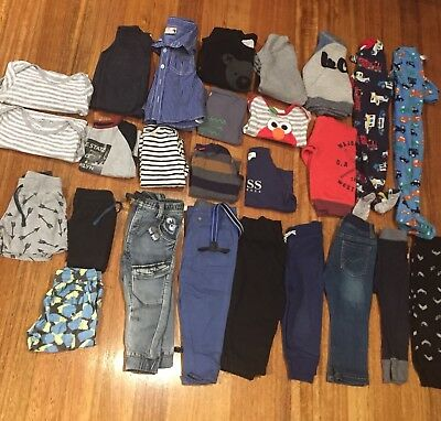 Size 1 Boys Bundle - 26 Items Brands Include Hux baby