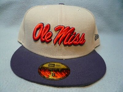new styles 976a9 68220 New Era 59fifty Ole Miss Rebels Sz 8 BRAND NEW Fitted cap hat Grayson 5950