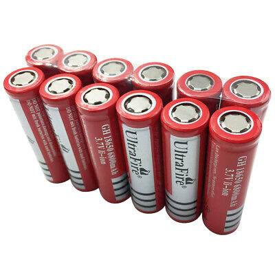 2/4/6/8/10pcs Rechargeable 18650 Batteries Flat Top 6800mAh 3.7V Li-ion Battery