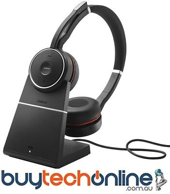Jabra Evolve 75 Bluetooth Stereo Wireless Headset 7599-838-199 Duo