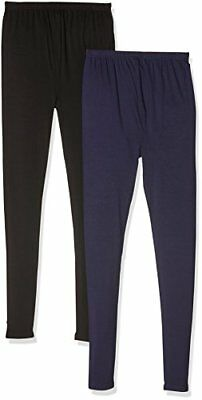 Blu Small New Look 2PP Viscose, Leggings Premaman Donna,  (Navy), S Blu (o2d)