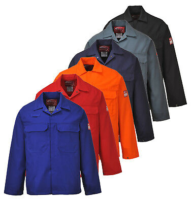 Portwest Bizweld Jacket Welding Adjustable Cuffs Pockets Flame Resistant BIZ2