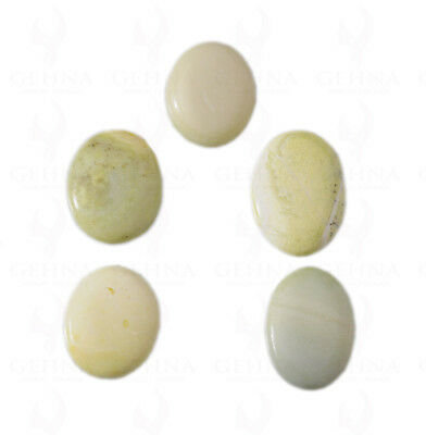 5 Pieces Of 22 To 26 Mm Oval Shaped Gaspeite Gemstone Ss1157