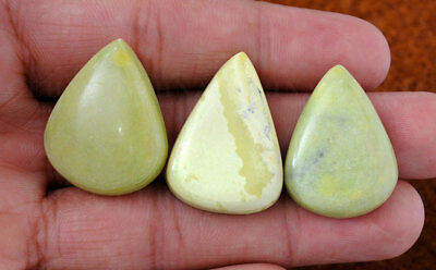 3 Pieces Of 28 To 30 Mm Pear Shaped Gaspeite Gemstone Ss1119