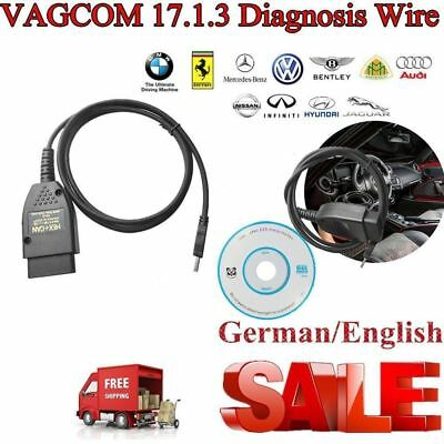VAGCOM 17.1.3 HEX+CAN USB Interface Car Fault Diagnosis Wire (German/English)hH