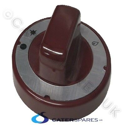 SHAAN TANDOORI 70mm ROUND RED CONTROL KNOB FOR PEL 20 21 21S GAS CONTROL VALVE