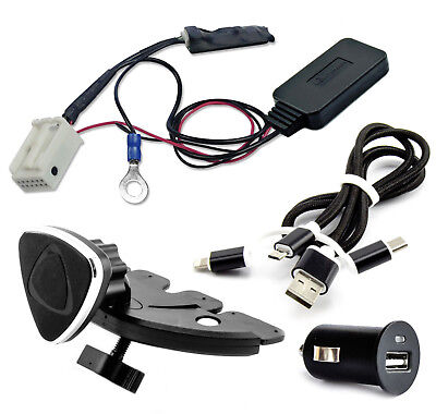 Bluetooth AUX Adapter Ladekabel Halterung SET Audi VW Concert Chorus RCD RNS MFD