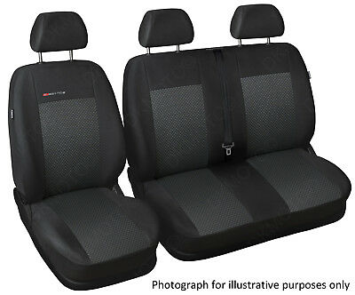 Fully tailored van seat covers for Ford Transit Custom charcoal grey