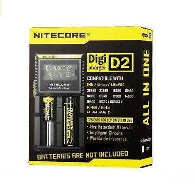 NITECORE D2 LCD Display Battery Charger for IMR Li-ion 18650 16340 Ni-MH Ni-Cd