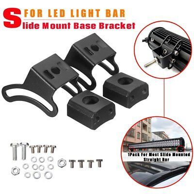 Slide Mounted Straight Work Light Bar Holder LED Light Base Mounting Brackets FK