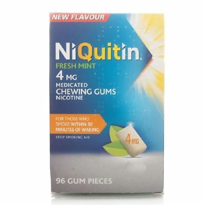 NiQuitin menthe fraîche Gomme 4mg 96-3 Pack 1 2 3 6 12 Packs