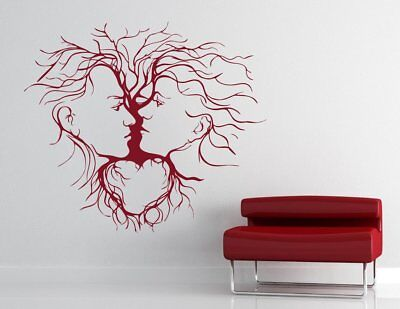 Wall Sticker Couple Abstract  Design Removable PVC Vinyl Home Living Room Decor