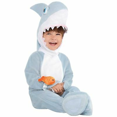 Baby Toddler Shark Attack Fancy Dress Book Week Costume Outfit Animal Sea