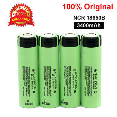 Genuine Panasonic 18650 3400mAh Rechargeable Battery NCR18650B Li-ion Flat Top A