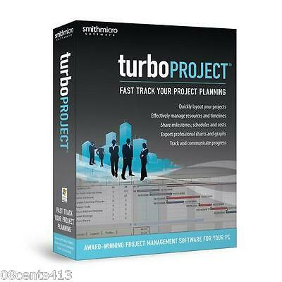 Turbo Project Smith Micro Software (PC) Fast Track Your Project Planning! NEW