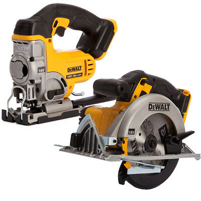 Dewalt DCS331N 18V Li-ion Jigsaw Body With Dewalt DCS391N Circular Saw Body