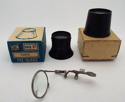 Vintage Lot Of 3 Loupes Behr Single Loupe Some With Original Boxes Vg Condition