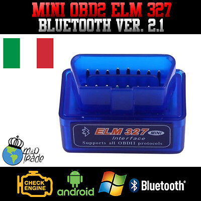 Diagnostica Mini Elm 327 Obd2 - Bluetooth V2.1 + Software Torque
