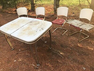 Retro metal table and chairs
