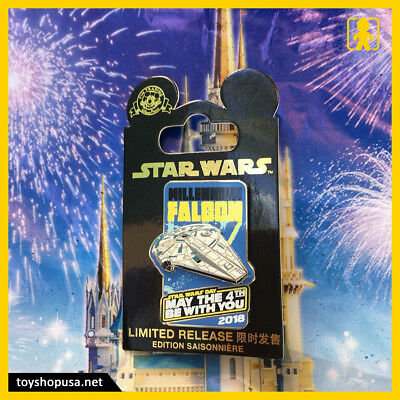 Disney Star Wars May The 4th Be With You Millennium Falcon Pin In Hand