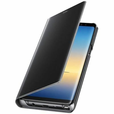 Housse Galaxy Note 8 Clear View Original protection fonction stand - noir