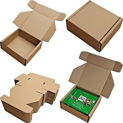"6"" x 6"" x 2.5"" SHIPPING STORAGE BOXES CARDBOARD POSTAL MAILING GIFT SMALL PARCEL"