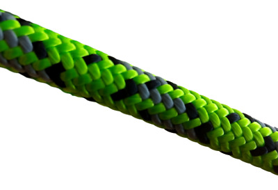 "7/16"" 11.8MM Lime Wire 24-Strand Braided Rope Climbing Line All Gear 7,000 lbs."