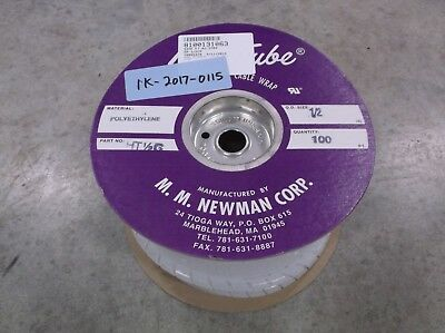 """Heli-Tube HT 1/2-T100 Natural PTFE Spiral Wrap, 1/2"""", 100ft"""