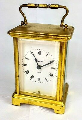 Vintage  French Bayard Duverdrey Bloquel 8 day wind up mantel carriage clock