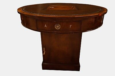 Late Victorian Mahogany Rent Table Or Drum Table