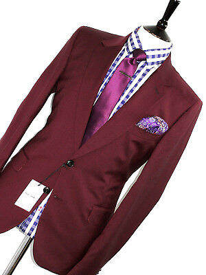 Bnwt Mens Paul Smith London The Mainline 2018 Edition Burgundy Red Suit 36R W30
