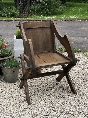 Antique Oak Glastonbury Chair Circa 1900 Arts And Crafts Chair
