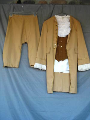 Colonial Boy Revolutionary War Pirate 3 Piece Light Brown Costume