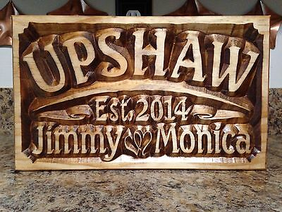 Personalized Wedding Sign Established Date Family Name Anniversary Gift Custom