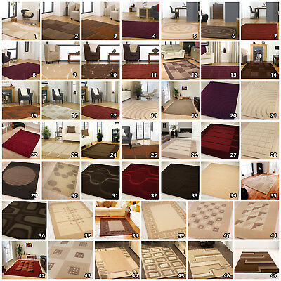 Sale Clearance Price 12Mm Thick Visiona Rugs - Small X Large Brown Beige Red Rug