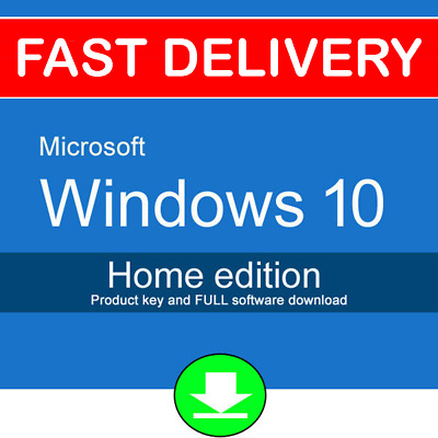 5PC Windows 10 Home 32 64 bit Genuine License Product Key Code + Download UK USA