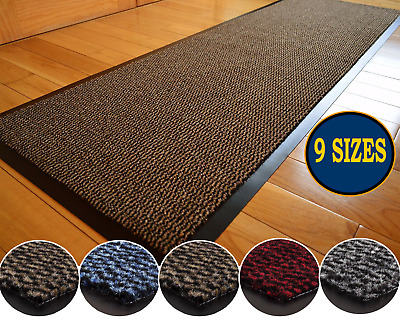 Large Heavy Duty Non Slip Rubber Back Barrier Mat Kitchen Door Hall Runner Rugs